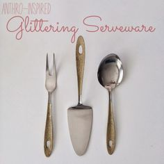 Frills for Thrills: {Anthropologie Inspired} Glittering Serveware.