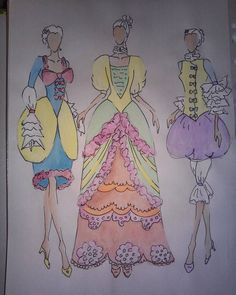 """#fashion #design #designer #fashiondesigner #student #studentasfashiondesigner #hungarian #illustration #fashionillustration #rococo #inspiredbyrococo…"""