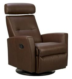 Fjords Ergonomic Leather Recliner Chair + Ottoman Scandinavian Norwegian Lounge Chair by Hjellegjerde. Leather Recliner Chair, Swivel Armchair, Chair And Ottoman, Quality Furniture, Modern Furniture, Living Furniture, Modern Recliner, Restoration Hardware Dining Chairs, Overstuffed Chairs