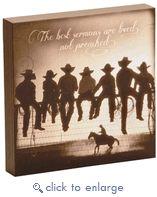 "(DM-B5210057) ""The Lesson"" Western Shadow Box Art - Christian Gifts & Decor"