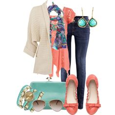 """""""Coral with a Clutch #2"""" by milladeyn on Polyvore"""