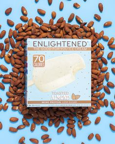 ENLIGHTENED Toasted Almond Low Calorie Healthy Ice Cream Bars