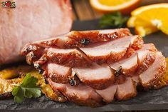 Slow cooking a ham will produce the best results and it eliminates the risk of the meat drying out. The ham will stay moist and succulent, soaking up the rich flavors of the glaze. Ham Recipes, Slow Cooker Recipes, Easter Recipes, Cooking Recipes, Kraft Recipes, Crockpot Recipes, Honey Baked Ham Recipe, Maple Glazed Ham, Ham Dinner