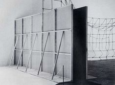 Bruce Nauman, 'Performance Corridor', installed at the Whitney Museum 1969.