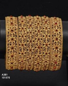 To buy please WhatsApp on 9703870603 Gold Bangles Design, Gold Jewellery Design, 1 Gram Gold Jewellery, Golden Jewelry, Hand Jewelry, Bangle Bracelets, Bangle Set, Jewellery Sketches, Bagels
