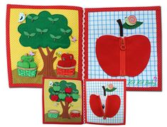 READY TO SHIP-Developing books, Quiet book for children/ kids/ toddlers/ preschoolers, made of Fabric and felt, increasing childs motility, sensors, tactility. CAN BE PERSONALIZED IF WANTED - message us for that, please. DIMENSIONS: Height: 20 cm - 8 inches Width: 18 cm – 7.5 inches