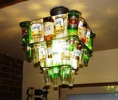 The Man Cave Chandelier!