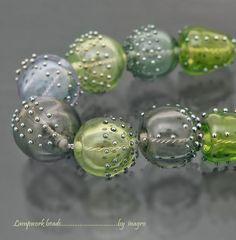 regina set of 8 pcs hollow handmade lampwork beads