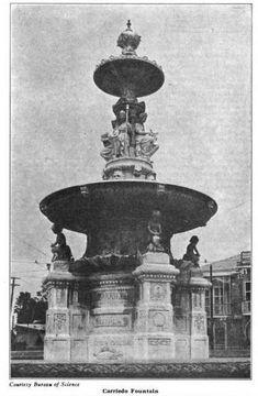 Carriedo Fountain Pinoy, Manila, Filipino, Philippines, Fountain, Drawer, Architecture Design, Nostalgia, Street