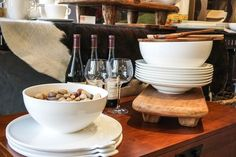 These white bowls and plates from Villeroy & Boch's Artesano collection are perfect for everyday use.  You can dress them up or dress them down-- either way, they always look great!