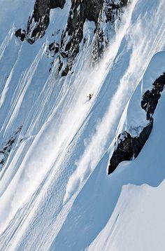 Jeremy Jones some steep Alaska powder.  #snowboard #alaska