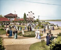 Shorpy Historic Picture Archive :: Kingston Point Park (Colorized): 1906 high-resolution photo