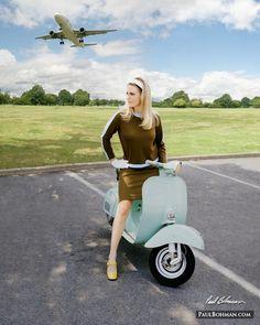 The Scooterist: Girl on Vespa 50.