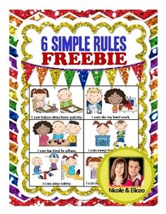 Back to School FREEBIE - 6 Simple Classroom Rules with Positive I Can Statements
