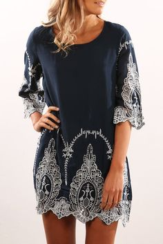 Isabelle Dress Navy