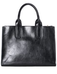 Shop Black Leather Tote Bag online. Sheinside offers Black Leather Tote Bag & more to fit your fashionable needs. Free Shipping Worldwide!