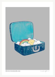 Always bring your own sunshine art print di ilovedoodle su Etsy