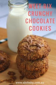 This cookie recipe is a favourite in my house the kids love them for a treat. Easy to make and easy to Weet - Cup Self raising Cup of your favourite nuts or seeds, I used grams of Milk chocolat Tray Bake Recipes, Lunch Box Recipes, Easy Cookie Recipes, Sweet Recipes, Baking Recipes, Scone Recipes, Lunchbox Ideas, Dessert Recipes, Desserts