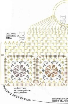 Bolso con rosas al crochet / esquemas crochet   Todo crochet