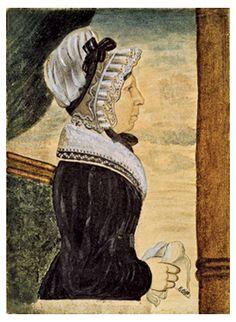 Attributed to Edwin Plummer.  Elizabeth Chandler, wife of Thomas Plummer, 1825.