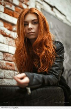 Gorgeous color, bright, loose and free. Blazing Red head. Hot!