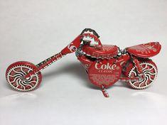 Beer Bottle Cap Motorcycle Bike  Upcycled Caps  SUPER COOL