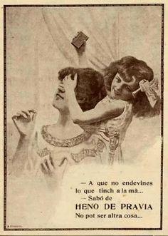 Cartells publicitaris del sabó Heno de Pravia en català 1913-1914