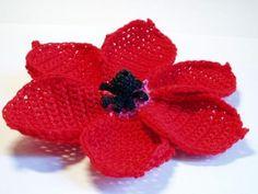 CROCHET PATTERNS (Crochet Flower Pattern #8 Anemone) -Crochet & Knit Design Heaven