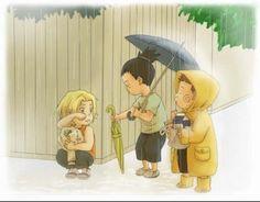 Aww. Choji, Shikamaru, and Ino from Naruto