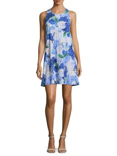 CECE Hydrangea Bouquet Twist Shift Dress