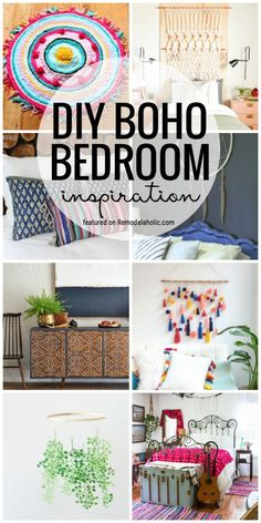 Bedroom inspiration boho - Create A Dreamy Bedroom Full Of Texture And Character With All Of This DIY Boho Bedroom Inspiration Featured On Remodelaholic com Boho Chic, Bohemian Decor, Gypsy Decor, Boho Style, Do It Yourself Baby, Diy Home Decor Bedroom, Bedroom Ideas, Boho Bedroom Diy, Trendy Bedroom