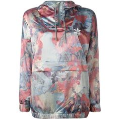 Adidas pastel camouflage print jacket ($58) ❤ liked on Polyvore featuring outerwear, jackets, blue and adidas
