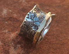 Majestic 14K Rose Gold Spinner Ring by charmedlifedesigns on Etsy