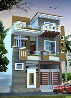 Fiverr freelancer will provide Architecture & Interior Design services and create fantastic house plans, elevation design rendering within 1 day 3 Storey House Design, House Roof Design, House Outside Design, Two Story House Design, Village House Design, Kerala House Design, Bungalow House Design, Small House Design, Indian House Exterior Design