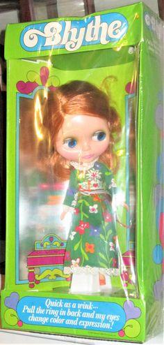 RARE Vintage 1972 Kenner Blythe Doll New in Original Box RED SIDE PART Love lace #Blythe