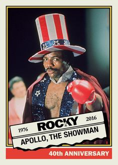 Rocky Balboa is coming to The National … as a Topps promo set Rocky Series, Rocky Film, Sylvester Stallone, Apollo Creed, Carl Weathers, Demolition Man, Film Pictures, Rocky Balboa, The Best Films