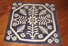 Primitive Penny Rug Wool Applique Kit Antique Coverlet Pattern All ...