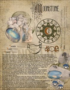 Moonstone, Book of Shadows printable page. Wiccan Spells, Magick, Crystals And Gemstones, Stones And Crystals, Cristal Art, Magic Herbs, Crystal Magic, Practical Magic, Book Of Shadows