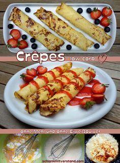 low carb Crêpes / Pfannkuchen sind ganz einfach selbstgemacht... ohne Mehl und…