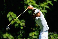 女子ゴルフ国別対抗戦、インターナショナル・クラウン(LPGA International Crown)2日目。ティーショットを打つ宮里藍(Ai Miyazato、2014年7月25日撮影)。(c)AFP/Getty Images/Rob Carr ▼26Jul2014AFP|藍/さくら組の意地で日本が首位を堅持、インターナショナル・クラウン http://www.afpbb.com/articles/-/3021505 #Ai_Miyazato