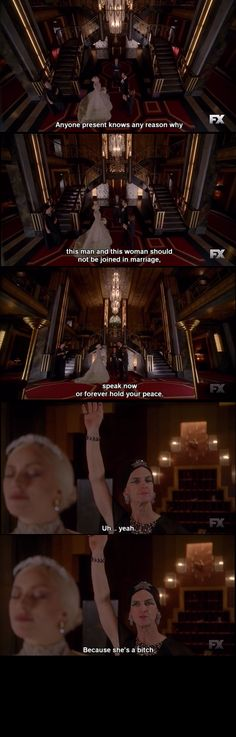 American Horror Story : Hotel This will be me at a wedding... my best friends wedding (Best Movies Horror)