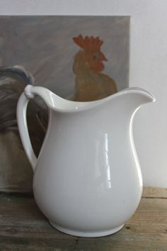 Homer Laughlin  white ironstone pitcher for my collection - purchased 1/12/13 for 8 dollars