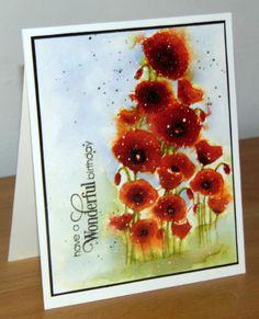 Magnifique Poppies Penny Black