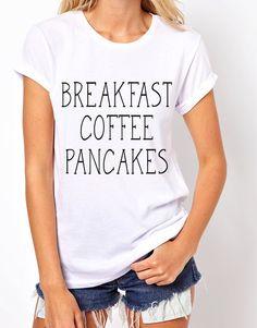 Breakfast Coffee & Pancakes tees. by ilolatees on Etsy