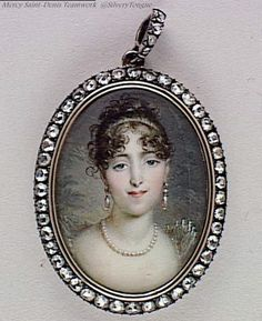 Miniatura Hortense Beauharnais, Queen of Holland. Napoleon Josephine, French Royalty, Miniature Portraits, Napoleonic Wars, Women In History, Contemporary Paintings, Corsage, Fashion Prints, Glamour