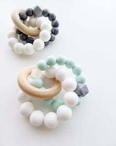 Trinity Teether - Baby teething toy, Teething, wooden, wood, silicone toy by LouLouLollipopFinery on Etsy https://www.etsy.com/listing/262764783/trinity-teether-baby-teething-toy