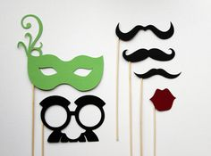 Mustache and Mask on a Stick