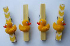 Caucho Ducky bebé ducha bandera Clips o favores regalo por TRIZIART