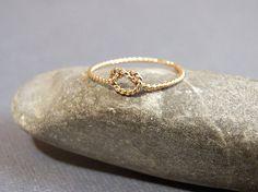 14K Goldfilled Dainty LOve Knot Ring  by ArtAffectionsJewelry, $24.00