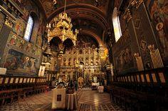 Church with moon interior, Oradea, Romania